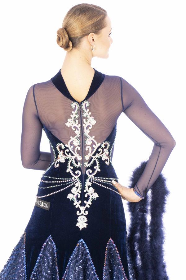 Navy Sequin Ballroom Dress <br/> HC20011