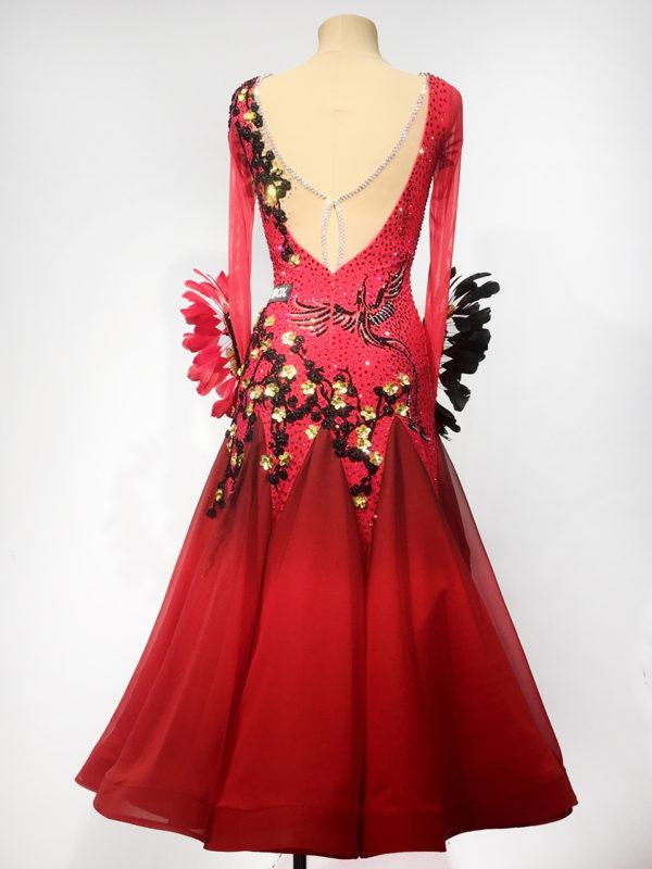 Red Cherry Blossom Ballroom Dress <br/> HC20012