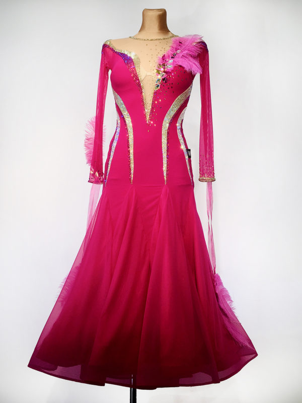 Fushia Blossom Ballroom Dress <br/> HC20013