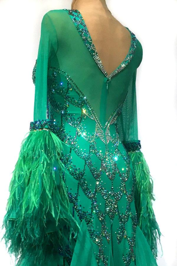 Emerald Fish Scale Ballroom Dress <br/> HC20020