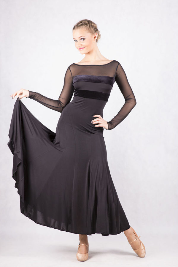 Grace Ballroom Dress Black <br/> P16120020-01
