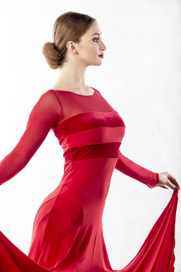 Grace Ballroom Dress Red <br/> P16120020-02