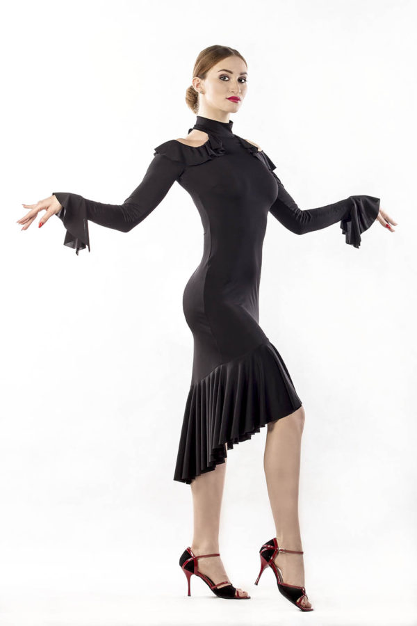 Flamenco Dress Black <br/> P16120026-01