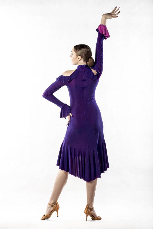 Flamenco Dress Purple Pink <br/> P16120026-03