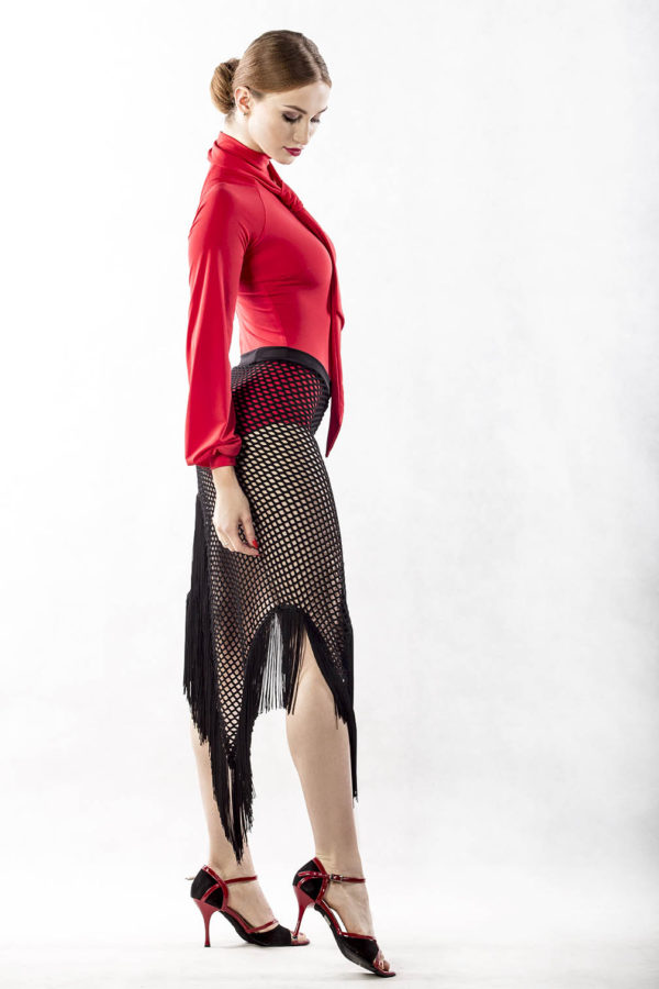 Isabell Neck Tie Body-Red <br/> P17120030-02