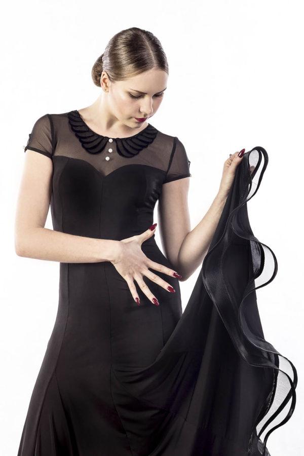 Baby Collar Dress Black <br/> P17120032-01