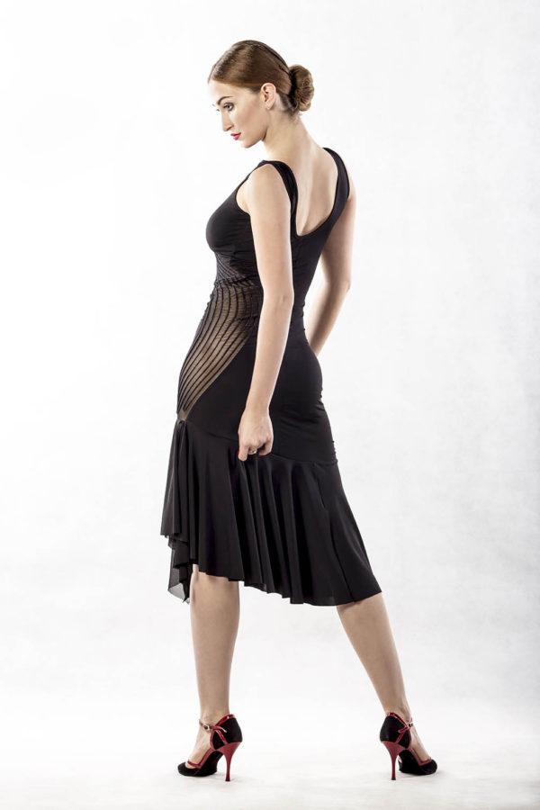 Swirl Latin Dress Black <br/> P17120035-01