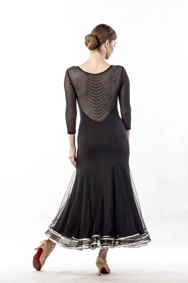 Silver Wave Dress Black <br/> P17120036-01