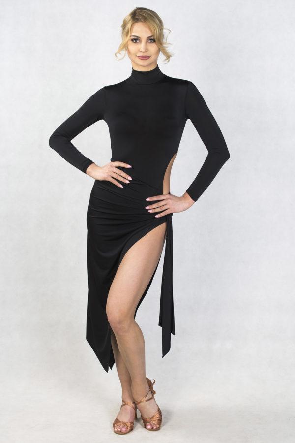 Zeta Latin Dress Black <br/> P18120010-01