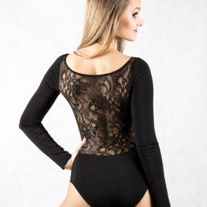 Lace Back Body Black <br/> P14120047-01