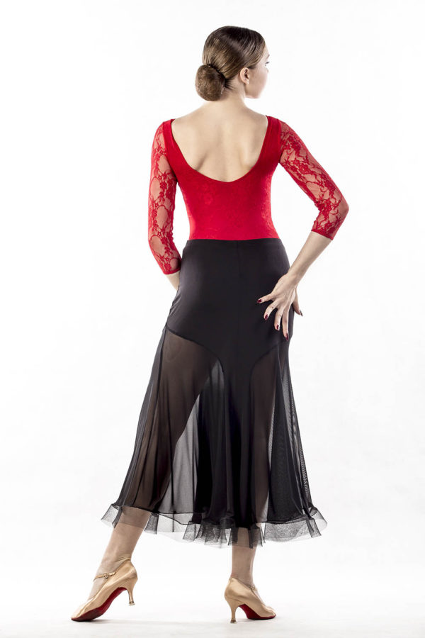 Hour Glass Ballroom Skirt-Black<br/> P14120048-01