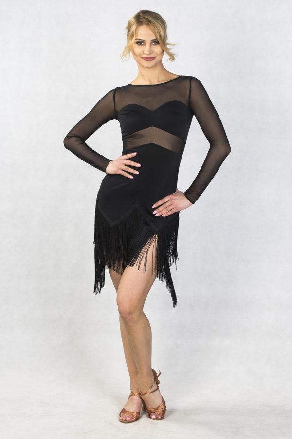 Borgia Latin Dress Black <br/> P18120013-01